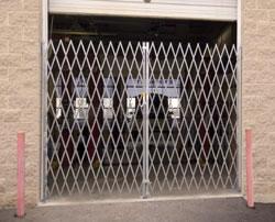 Heavy duty steel folding gates -- door, single, double